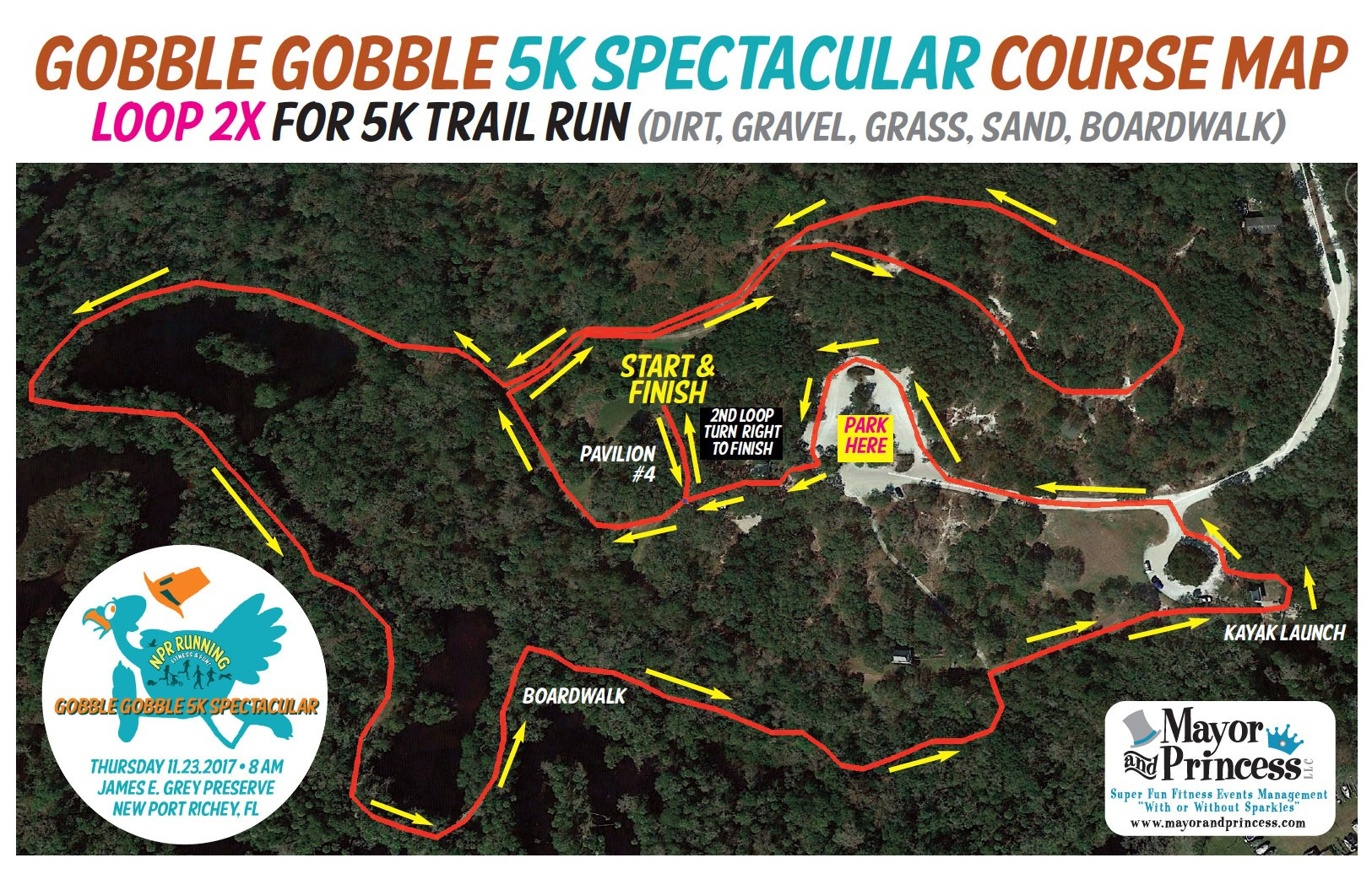 Gobble Gobble 5K Spectacular on drama map, miller map, gray map, white map, brown map, martin map, gorge map,