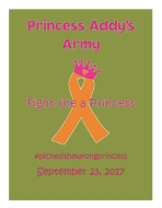 Princess Addy's Army 5k and Fun Run