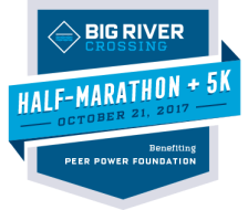 Big River Crossing Half Marathon + 5K benefiting Peer Power Foundation