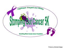 Stomping Out Cancer 5K