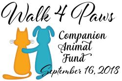 2018 Walk 4 Paws Benefiting Companion Animal Fund