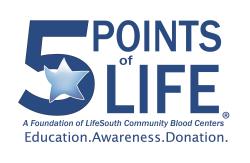 Five Points of Life Kids Marathon Huntsville