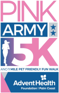 Pink Army 5K and 1 Mile Pet Friendly Fun Walk