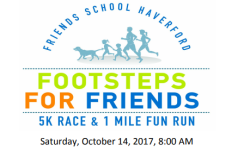 Footsteps for Friends 5K and 1 Mile Walk/Fun Run