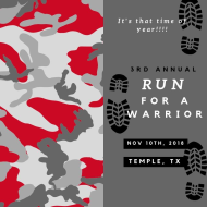 3rd Annual Run for a Warrior 5k