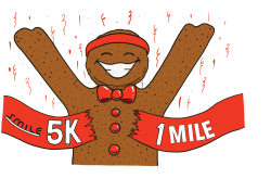 10th Annual [HYBRID] SMILE Gingerbread 5K and 1 Mile Gingersnap Fun Run and FUNDraising