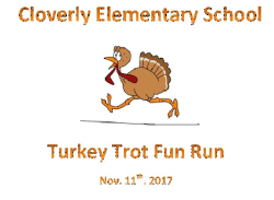 Cloverly Elementary School Turkey Trot Fun Run 2017