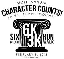 CHARACTER COUNTS! in St. Johns County Six Pillars 6K/3K Run/Walk