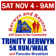 Trinity Berwyn 5K Run/Walk, Kids Fun Run, and Pancake Breakfast