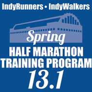 Indy Runners & Walkers Spring Half Marathon Training