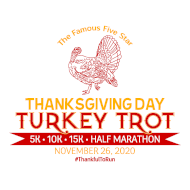 Five Star Thanksgiving Turkey Trot 5K, 10K, 15K, & Half Marathon