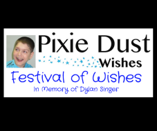 PIXIE DUST WISHES FESTIVAL OF WISHES IN MEMORY OF DYLAN SINGER
