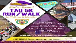 4th Annual TAU 5K Run | 1st Annual 5K Virtual Run