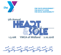 5th annual Midland YMCA Heart & Sole 1.5.10K