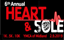 6th annual YMCA of Midland Heart & Sole 1.5.10K