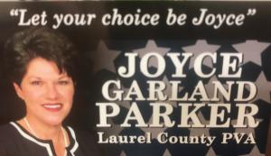Elect Joyce Garland Parker Laurel Co PVA