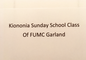 Koinonia SS Class of FUMC Garland
