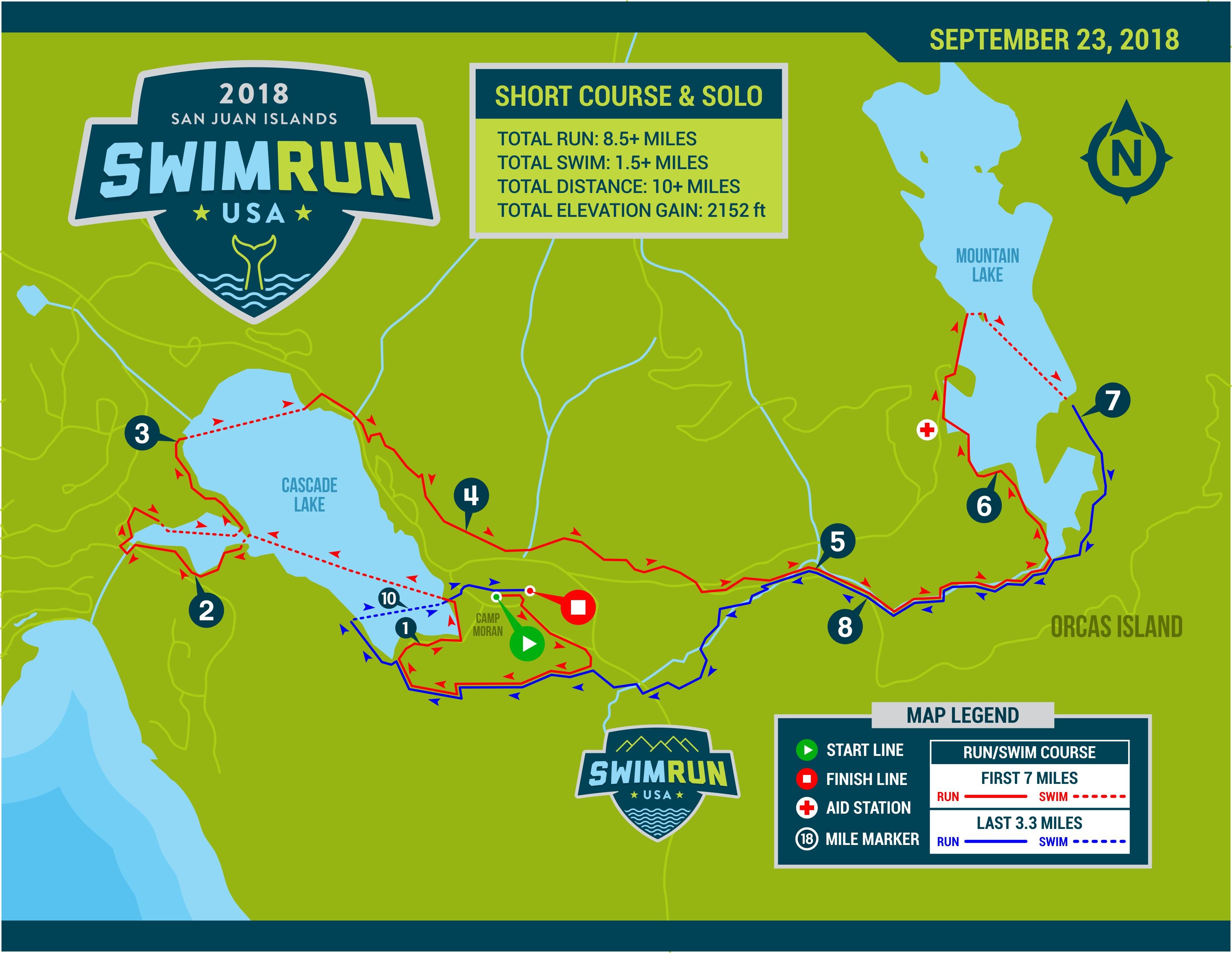 Run Usa Map.Swimrun San Juan Islands