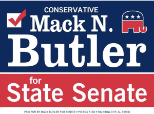 Mack Butler for State Sentate