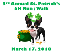 3rd Annual St. Patrick's 5K Run/Walk