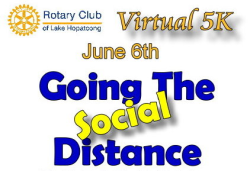 Running With Rotary Virtual Social Distance Run!!