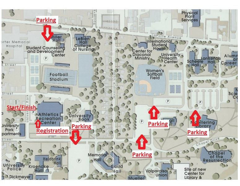 Valparaiso Campus Map.Race The Region Resolution Run 5k