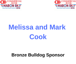 Mark and Melissa Cook