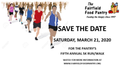Fairfield Food Pantry 5k Run/Walk