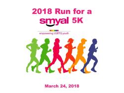 Run for a SMYAL 5K Race/Run/Walk