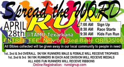 Spread the Word 5k, 10K, and Kid Fun Run