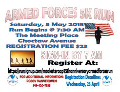 McAlester AAP 75th Anniversary Armed Forces Run