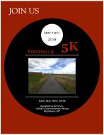 Foothills 5k