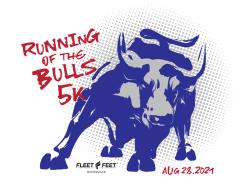 Running of the Bulls 5K, 1 Mile Fun Run,  September Fitness Challenge (30 miles) Virtual