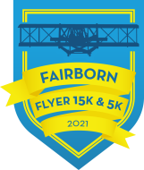 The Fairborn Flyer 15K and 5K Presented by New Balance Dayton Logo