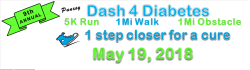 Punxsy Dash 4 Diabetes 5K Race / 1Mi Obstacle Course / 1Mi Walk