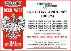GRAND RIVER BREWERY 313 POLISH LAGER BEER MILE