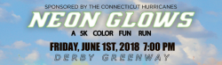 CT Hurricanes Neon Glows Color Run