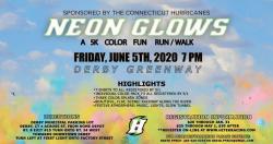 CT Hurricanes Neon Glows Color Run