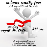 Indiana County Fair 3rd Annual 5k and Fun Walk (Cancelled )