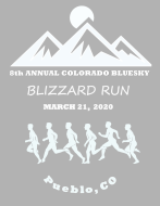 BlueSky Blizzard 5K Run/ 2 mile walk -   Virtual Race