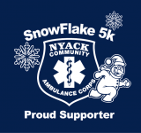 The Snowflake 5K is a Running race in Nyack, New York consisting of a 5K.