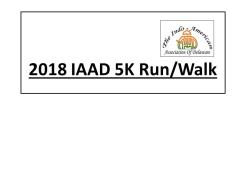 2018 - IAAD 5K  Run/Walk