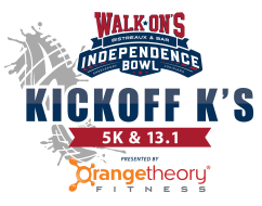 Walk-On's Independence Bowl Kickoff K's Presented by Orangetheory Fitness: 5K & Half Marathon