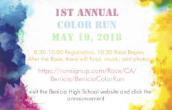 Benicia Panther Pride Color Vibe Run