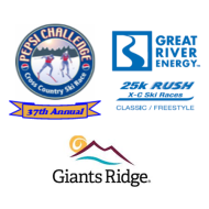 2022 Pepsi Challenge 50K/Great River Energy Rush 25K/Giants Ridge 8K Nordic Ski Races at Giants Ridge