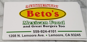 Authentic Beto's Mexican Food and Great Burgers Too