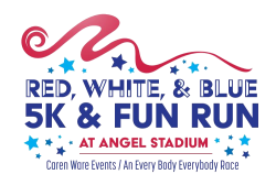 ANAHEIM-4th of July-Red, White, & Blue... or BREW 5K & 1 Mile Fun Run at ANGEL STADIUM