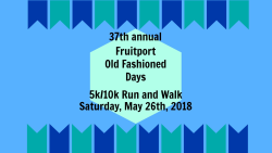 Fruitport Old Fashioned Days Run