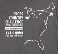 Chicago to Boston Cross Country Virtual Challenge
