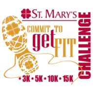 St. Mary's Commit to Get Fit Challenge 3k walk; 5k, 10k, 15k run